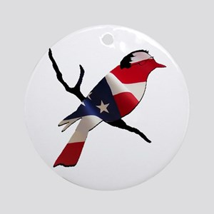 Bernie Bird Round Ornament